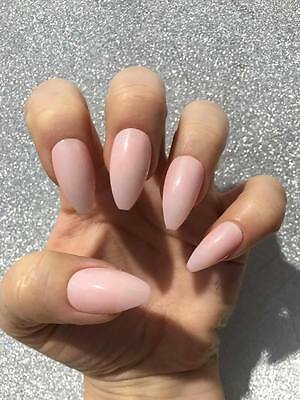 Natural looking stiletto nails, fake nails, coffin nails, stick on nails