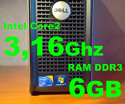 Dell Optiplex 780 - Intel Core 2 Duo vPro 3.16Ghz (E8500)/6GB RAM DDR3/DVD-RW