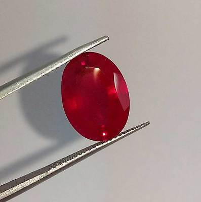 6.80 Ct Pigeon Blood Red Ruby Oval Faceted Cut Gems