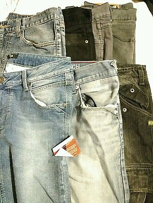 "Job lot x7 Pairs of Jeans Trousers Mens size 30""-32"" various brands"