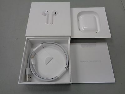 Apple AirPods White In-Ear Only Headsets with Charging Case & Cable MMEF2AM/A