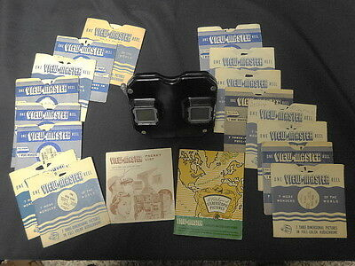 Sawyer's View Master Bakelite Model C 3D Kodachrome Stereo Picture Viewer+Reels