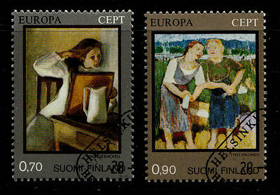 Finland Postage Stamps 1975 SG 877-878  Europa Set Paintings cto (2v).