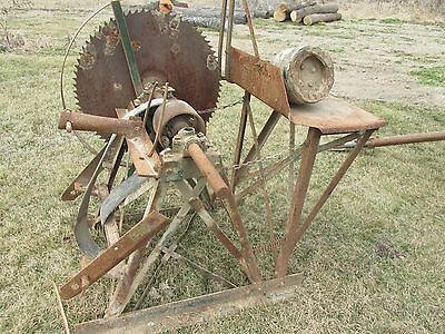 Antique 3 Point Saw PTO Tractor Cordwood Buzz Saw
