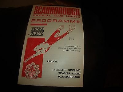 scarborough v doncaster utd 19/8/1967
