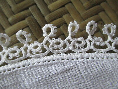 Vintage Tatting Doilies 2 / Pillow Case 1 Tatted Lace Trim (White)