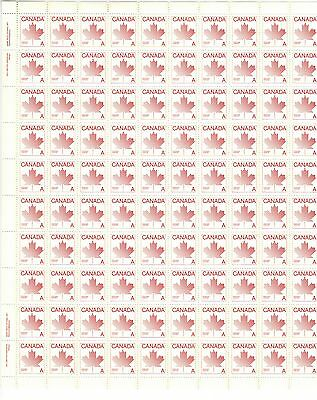Canada Stamps  Full Inscription Sheet of 100 Plate 1 Scott# 907 MNH