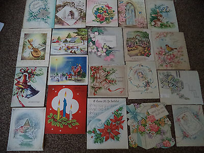 Lot of 350+ vintage birthday cards Christmas cards Shower etc.