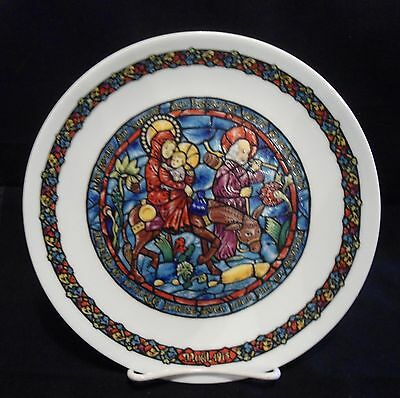 Vintage 1975 D'arceau-Limoges Stained Glass Christmas Plate #ac-206 France