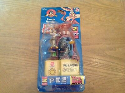 """Looney Tunes PEZ Wile E. Coyote Candy Hander (1998) """"NEW"""" road runner 4765"""