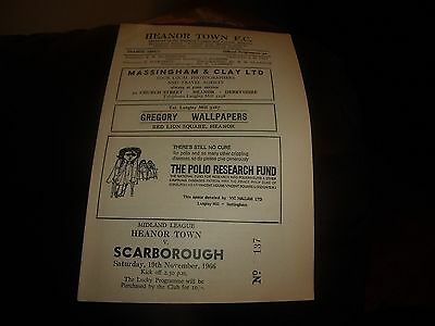heanor town v scarborough 19/11/1966