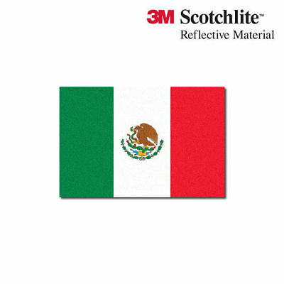 "3M Reflective Flag Decals - Mexican Flag - 1.5"" x 2.25"""