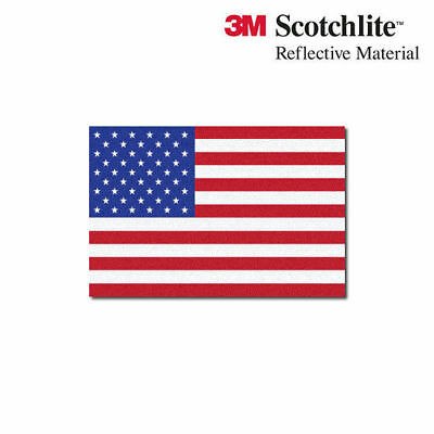 "3M Reflective Flag Decals - US Flag - 1.5"" x 2.25"""