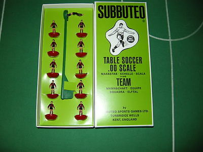 Subbuteo Raptor Team BARCELONA  / Chateauroux Box Complete 10 players & keeper