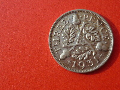 very nice condition 1931 silver threepence,