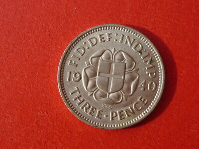 very nice condition 1940 silver threepence,