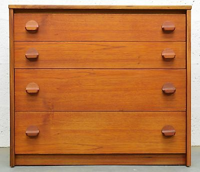 Retro Vintage Mid Century Danish Style Teak Chest of Drawers by Stag