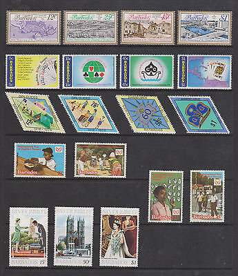 Collection Of U M/m  Stamps From  Barbados , See Scans