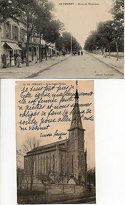 CPA 78 LE VESINET route de montesson - l'église sainte pauline -