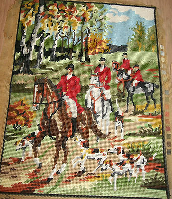 Horse & Hound Hunting Scene 16 X 12 Inches Country Life