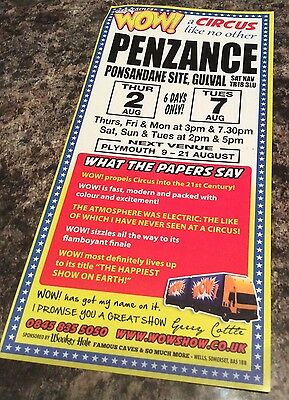 Wow. Circus  Advertising  Ticket