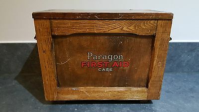 vintage wooden paragon first aid case