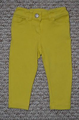 Lovely Mini Boden Girls Yellow Jersey Jeans/Trousers 1.5-2/18-24 Months EUC