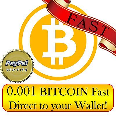 Bitcoin 0.001 BTC fast direct to your Wallet ! ( 0.001 bitcoin )
