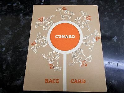 Vintage Cunard Rms Queen Mary Race Card
