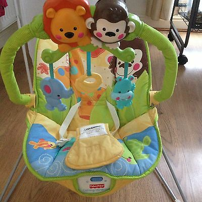 Baby Bouncer Vibrate Musical Animal Fisher Price