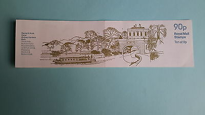 "FG4A British Canals Series, Kennet & Avon 90p Folded Stamp Booklet, ""July 1978"""
