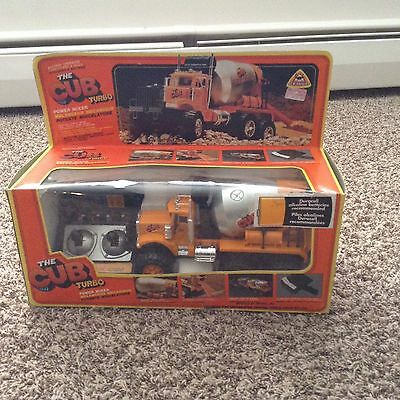 The Cub Turbo Power Mixer - Vintage RC Remote Control Cement Mixer Tested/Works