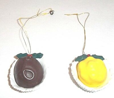 Faux Candy Cordials Ornaments Set of 2 for Christmas or Pretend Play Display