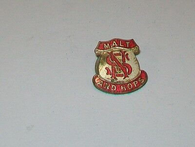 Ns Ltd Malt & Hops Enamel Lapel Badge