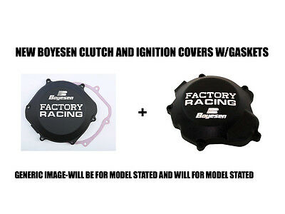 New Boyesen Black Clutch And Ignition Stator Cover Covers 02-07 Honda Cr250R Cr