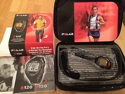 Polar S120 Heart Rate Monitor Receiver Fitness Watch Boxed Never Used