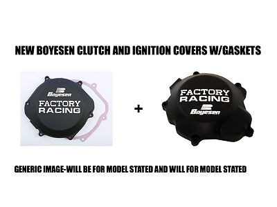 New Boyesen Black Clutch And Ignition Stator Cover Covers 87-01 Honda Cr500R