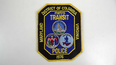 District Of Columbia, Maryland, Virginia, Metro Transit Police Dept Patch