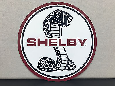 Shelby cobra sign reproduction high quality baked resin metal round