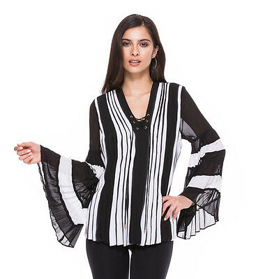 Adore Women's Pleated Long Sleeve Top Size Small