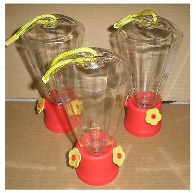 Cool and Cute  LOT OF 3  Hummingbird Nectar Feeders with FREE BONUS