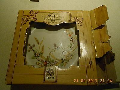 Boxed Set Of 3 Marks And Spencer Harvest Pattern Tea Plates