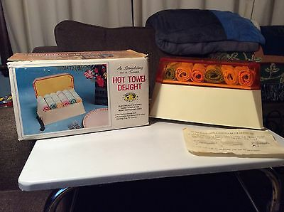 "Very Rare Vintage  ""hot Towel Delight"" Towel Steamer 1969 W/ Original Box Works"