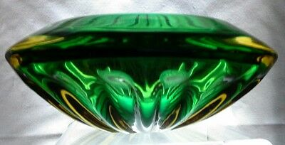 1950's Murano, Sommerso Glass Bowl