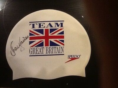 Sharron Davies signed Team GB swimming cap