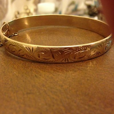 Antique Gold Filled Core Bangle Dated 1973