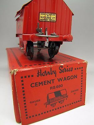 Vintage Hornby Series O Gauge Cement Wagon Train Coach Boxed Box Rs660 Pre War