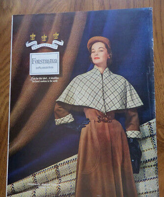 1951 Forstmann 100% Virgin Wool Fashion Ad