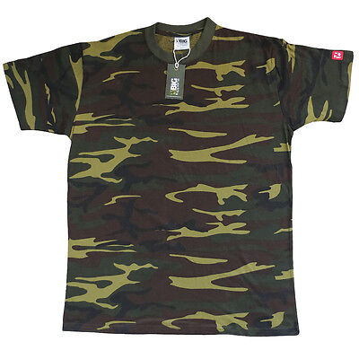 CLASSIC 'Woodland Camo' Carp Fishing T-Shirt by Big Kippers | FREE Delivery