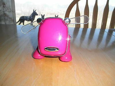 Hot Pink HASBRO iDog Adio Music Speaker MP3 NO CORD Does It WORK ? For Parts ?